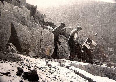 Quarry Men on Binnian 1940's
